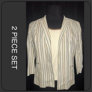 2 Piece set- Top and Jacket Size 14P